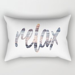 Time to Relax at Sunset on the Beach Rectangular Pillow
