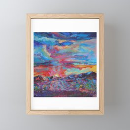 Colorado Mountain Sunset Framed Mini Art Print