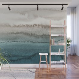 WITHIN THE TIDES - CRASHING WAVES TEAL Wall Mural