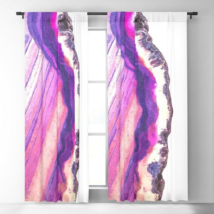 Druze violet agate Blackout Curtain