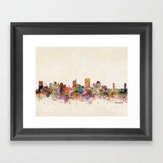 sacramento california skyline Framed Art Print