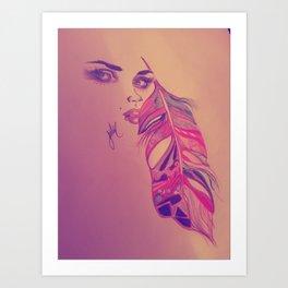 Beauty of the eyes Art Print