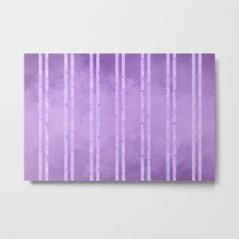 Purple Foil Stripes Metal Print