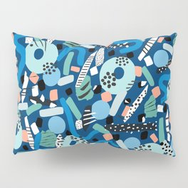 CIRCLES IN MOTION - GREEN/ BLUE brush stroke Pillow Sham