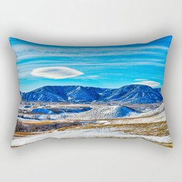 Wyoming Winter Nature Rectangular Pillow