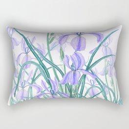 purple iris watercolor Rectangular Pillow