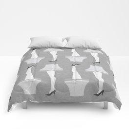 Leg Lamp Grey Comforters