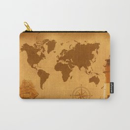 World Map nostalgic Carry-All Pouch