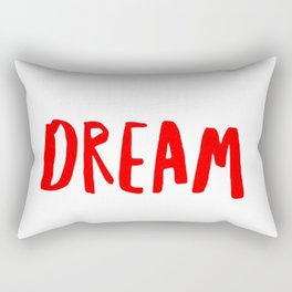 Dream in Red Rectangular Pillow