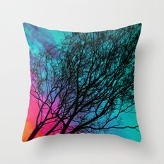 Behind The ol' Crape Myrtle Throw Pillow