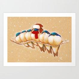 Stay Warm! Art Print
