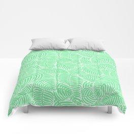 Minty Palms Comforters