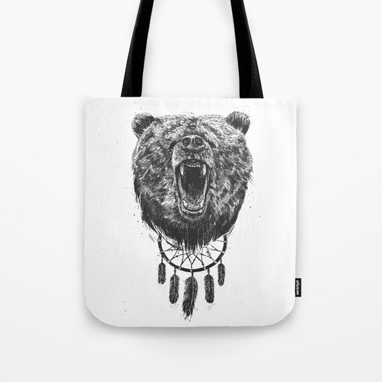 Don't wake the bear Tote Bag