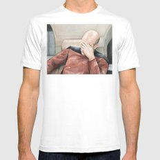 Picard Facepalm Meme Funny Geek Sci-fi Captain Picard TNG White Mens Fitted Tee MEDIUM