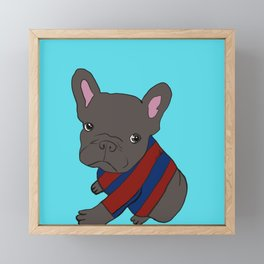 French Bull Dog Puppy in a Sweater Framed Mini Art Print