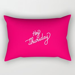 Hey Thursday   [gradient] Rectangular Pillow