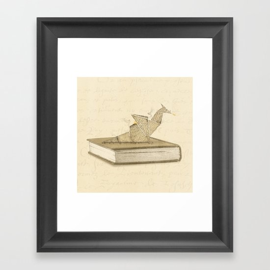 Origami Dragon Framed Art Print