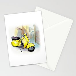 Giallo Vespa (Motocicletalia) Stationery Cards