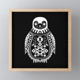 Black Penguin Ecopop Framed Mini Art Print