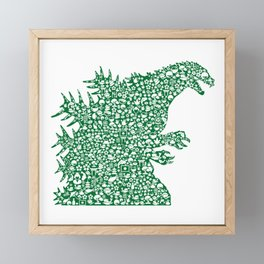 Japanese Monster Framed Mini Art Print