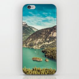 Lake Diablo - Blue and Green Water and Trees iPhone Skin