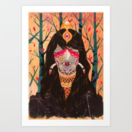 The Tree Witch Art Print