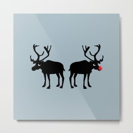 Angry Animals: Rudolph & Prancer Metal Print