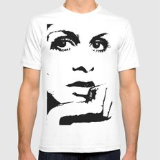 Gettin' Twiggy wit It. MEDIUM White Mens Fitted Tee