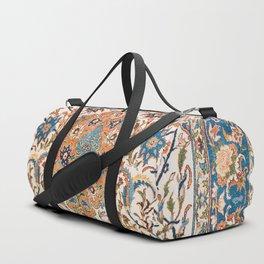 Isfahan Antique Central Persian Carpet Print Duffle Bag