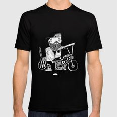 Route 66 Lover MEDIUM Black Mens Fitted Tee