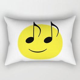 Happy Music Face Rectangular Pillow