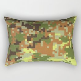 Pixel Camouflage Oil Painting Rectangular Pillow