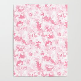 Abstract Flora Millennial Pink Poster