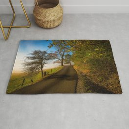 Smoky Morning - Whimsical Scene in Great Smoky Mountains Rug