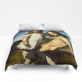 "Théodore Géricault ""Portrait of Alfred and Elisabeth Dedreux"" Comforters"
