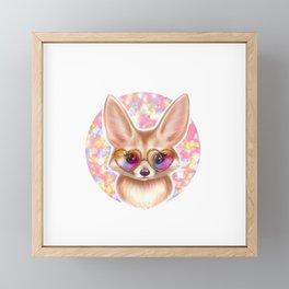 Cute Fennec Fox Framed Mini Art Print