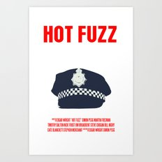 Hot Fuzz Movie Poster Art Print