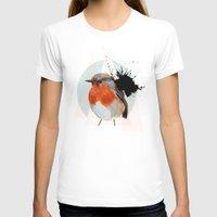 robin T-shirts featuring Robin by Stroke a Bird