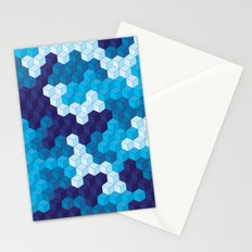 CUBOUFLAGE BLUE Stationery Cards