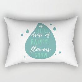 A Little Drop of Rain Rectangular Pillow