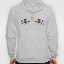 Egyptian symbols eye of horus with Ankh Hoody