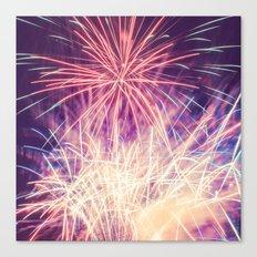 Fireworks - Evening Summer Festival Photography Canvas Print