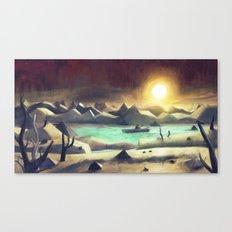 Solitude On Lake Cyanide Canvas Print