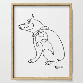 Pablo Picasso Dog Artwork, Animals Line Sketch, Tshirts, Prints, Posters, Bags, Men, Women, Kids Serving Tray