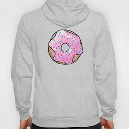 Pink Donut on Black Hoody