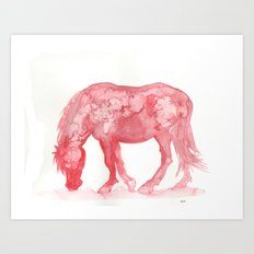 Red Pony Art Print