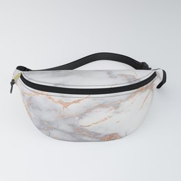 Gray Marble Rosegold  Glitter Pink Metallic Foil Style Fanny Pack