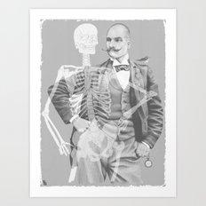 Crown Pursuit -- Black and White Variant Art Print