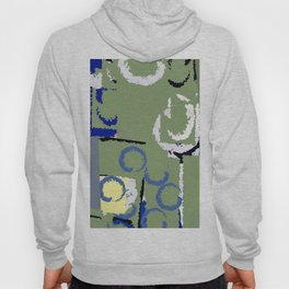 Olive Rose Abstract Field Hoody