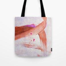 brush strokes purple orange Tote Bag
